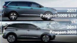 Peugeot 5008 vs Peugeot 3008 comparison