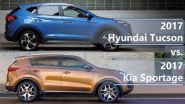 Kia Sportage vs Hyundai Tucson comparison