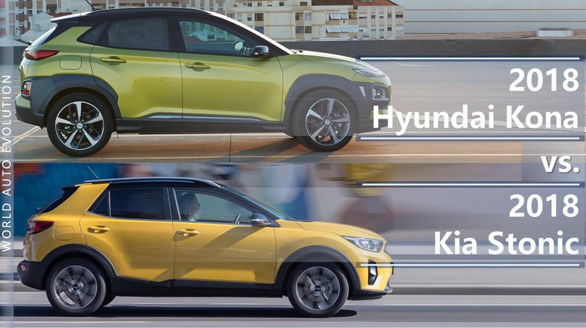 hyundai kona vs kia stonic korean subcompact crossover newcomers. Black Bedroom Furniture Sets. Home Design Ideas